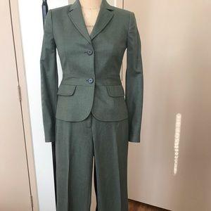 Jcrew green wool suit